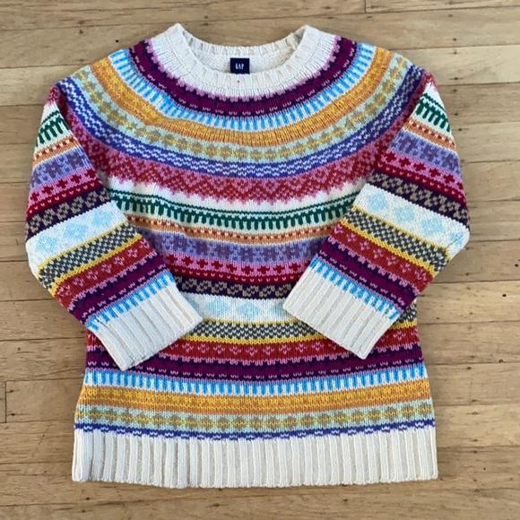 GAP medium vintage wool Fair Isle sweater